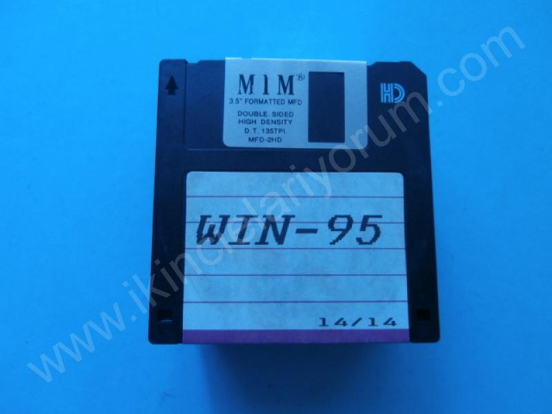 WINDOWS 95 FLOPPY DİSKETTE 1.44 MB