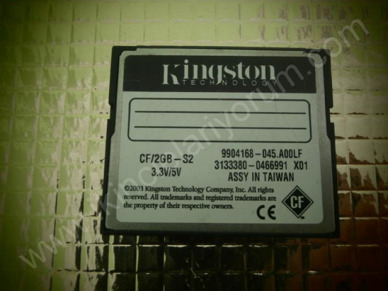 Compactflash 2 Gb Hafıza Kartı Kingston 133x hızında