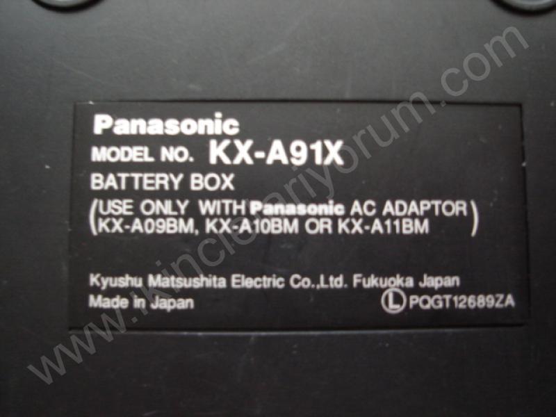 PANASONIC KX-A91X 12V PİL KUTUSU