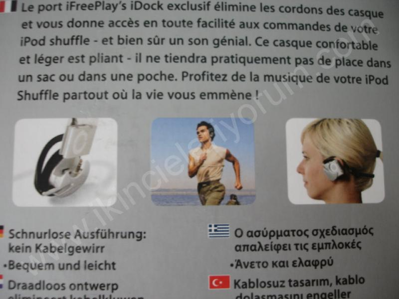 ifreeplay ipod shuffle 2G cordless headphones monster kablosuz kulaklık