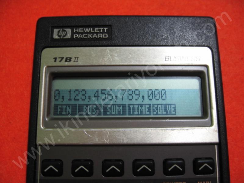 HP 17B II BUSINESS FİNANSAL HESAP MAKİNASI