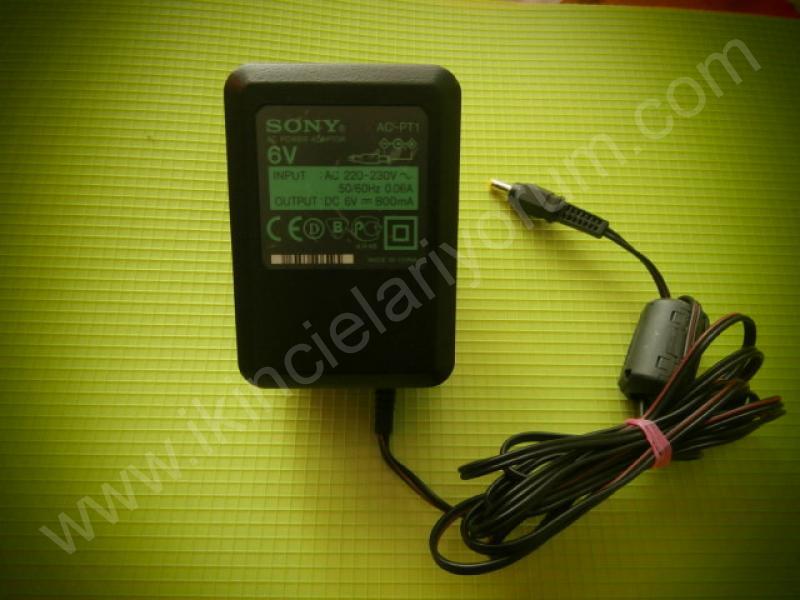 Sony AC-PT1 6V 800 Mah AC Power Adaptor