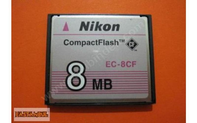 COMPACTFLASH 8 MB NIKON EC-8CF HAFIZA KARTI