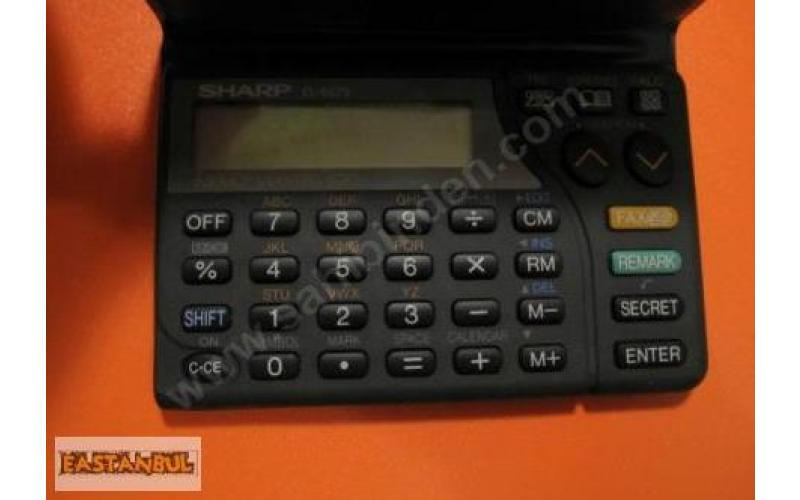 SHARP EL-6073 DATABANK HESAP MAKİNASI